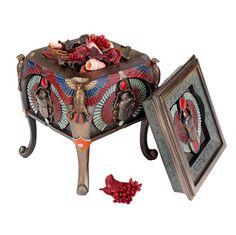 Sacred Scarab Beetle Egyptian Offering Box