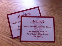 Mmmm.   Mancini's Char House.  How about a steak dinner?  (or two?)