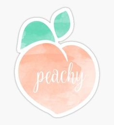 """""""Peachy"""" Stickers by Jodie Andrews Tumblr Stickers, Phone Stickers, Cool Stickers, Printable Stickers, Planner Stickers, Making Stickers, Preppy Stickers, Homemade Stickers, Red Bubble Stickers"""