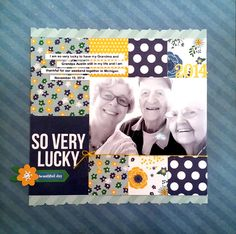 So very lucky - Scrapbook.com ---- Simple Stories A Charmed Life