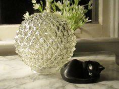 Vintage Clear Diamond Point Light Globe by NaughtyNelliesAttic on Etsy