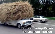 I always knew that Donald, his ego and his hair would be difficult to fit into just one car.