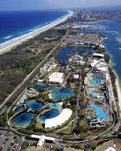 Wonderful Sea World on the Gold Coast - rides, marine shows, and noted for playing  a role in marine research and rescue #AustraliaItsBig
