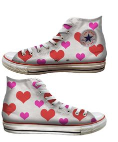 Jump with joy and spread the love, one heart and pair of converse at at time this Valentine's Day #heartVICTORIA #Converse - Baggins Shoes | www.tourismvictoria.com