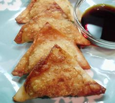 Chinese Wontons from Food.com:   These appetizers disappear quickly! They are also great dipped in a mixture of soy sauce and Worcestershire sauce.