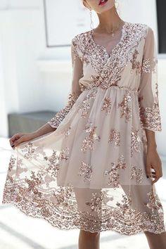 Vestido Midi com Paetês - Compre Online | DMS Boutique