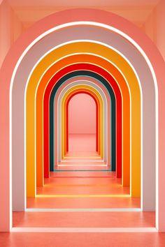 rainbow inspiration Espace Design, Instalation Art, Caran D'ache, Co Working, Color Stories, Store Design, Color Inspiration, Planer, Aesthetic Wallpapers
