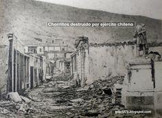 Chorrillos después de la batalla (1881) Bolivia, Homeschool, Movie Posters, Painting, Alpha Wolf, War Of The Pacific, Battle, Antique Photos, Soldiers