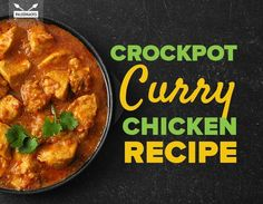 This spectacular crock pot curry chicken recipe combines Indian spices with coconut flavors to produce a warm and satisfying curry. (Sub pumpkin for tomato) Crockpot Curry Chicken Recipe, Crock Pot Curry, Chicken Recipes, Chicken Curry, Chicken Tikka, Sin Gluten, Slow Cooker Recipes, Cooking Recipes, Slow Cooking