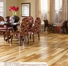 """Hickory Natural 5"""". Quality Floors Direct."""