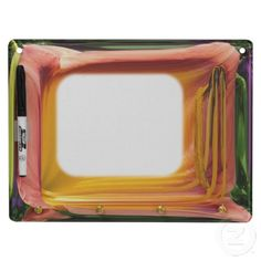 Abstract TV ~ Keychain Dry Erase Board