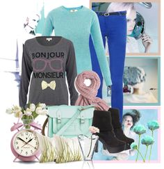 """""""Bonjour ♥"""" by azulitaa22 on Polyvore"""