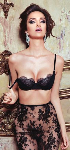 #Sexy Black Sheer Lace #Lingerie