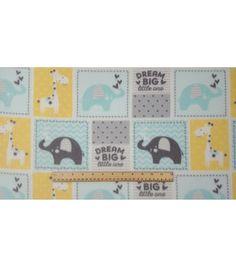 """Nursery Fleece Fabric 59""""-Dream Big Patch"""