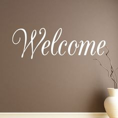 Greet guests into your home with this elegant Welcome decal! Select the size and color that best fits your needs. **Keep in mind sizes are close approximations.** Bring your walls to life with our rem