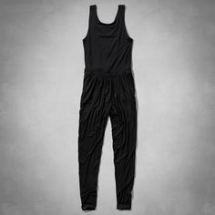 Womens Bouncy Knit Jumpsuit | Supersoft and pretty with a relaxed silhouette, cinched drawstring waist, Easy Fit | Abercrombie.com