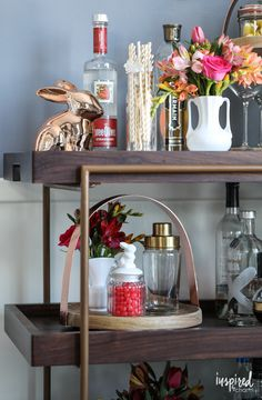 Spring Bar Cart   Inspired by Charm