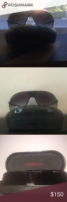 Men's Carerra aviator glasses Black sunglasses like new. Case included. Carrera Accessories Sunglasses