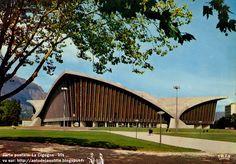 Grenoble - Le Stade de Glace - Palais des Sports  Architectes: Robert Demartini, Pierre Junillion ou Junillon  Ingénieur: Nicolas Esquillan ...