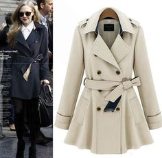 $49.90 | Fashion double - breasted coat