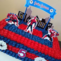 Cakes For Boys, Superhero Party, 3rd Birthday, Spiderman, Spiderman Birthday Cake, Theme Cakes, Birthday Cakes, Creative Party Ideas, Spider Man Cakes