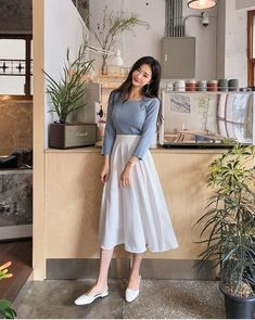 Modest Fashion Tips .Modest Fashion Tips Korean Girl Fashion, Korean Fashion Trends, Ulzzang Fashion, Asian Fashion, Look Fashion, 80s Fashion, Fashion Stores, Fashion Hair, Street Fashion