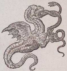 woodblock  BookClaude Paradin, chanoine de Beaujeu. Devises Heroïques. Lyon : Ian de Tournes et Guil Gazeau, 1557. Page 216.  Notes  ThemeBestiary