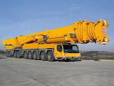 Liebherr Crane - - World largest mobile crane Lift Operator Training OSHA & ANSI Compliant www. Crane Construction, Heavy Construction Equipment, Construction Machines, Heavy Equipment, Cool Trucks, Big Trucks, Van 4x4, Crane Boom, Road Train