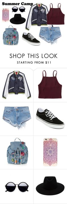 """""""Summer Camp"""" by tamarahornes ❤ liked on Polyvore featuring Aéropostale, One Teaspoon, Vans, Topshop and rag & bone"""