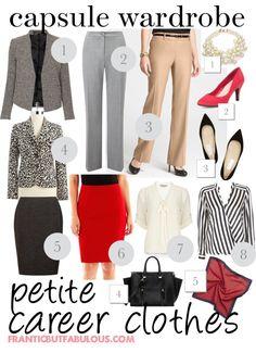 Capsule wardrobe: Petite career clothes - Frantic But Fabulous