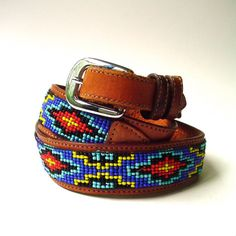 gorgeous southwest vintage beaded leather