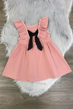 Blush Pink Bow Back Dress - Sparkle in Pink