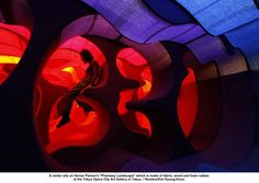 Verner Panton was let of the leash by Bayer to promote their fabrics - smashing.