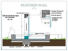 how to build water wall Construction Drawings, Water Walls, Outdoor Playground, Detailed Drawings, Water Features, Architecture Details, Garden Inspiration, Floor Plans, Backyard