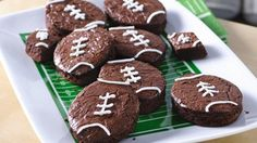 Touchdown Brownies  The Football Season is within scoring range! Get ready for game day with some touchdown brownies!
