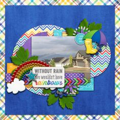 Digital Scrapbook Page by Britt | {Rain{bow by Bella Gypsy