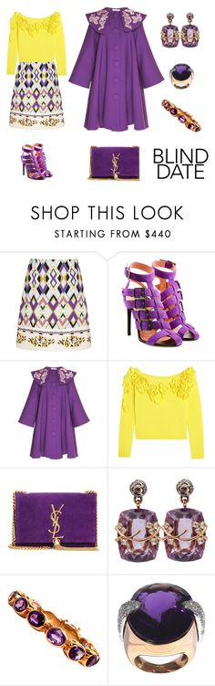 """Dress to Impress: Blind Date"" by karen-galves on Polyvore featuring Roland Mouret, Delpozo, Yves Saint Laurent, Federica Rettore, Retrò and blinddate"