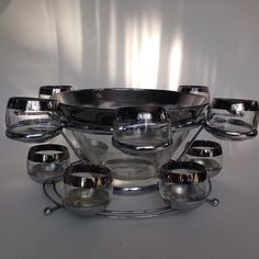 Mid Century Ombre Punch Bowl Set FOR SALE on #Etsy... - Merrily Verily Vintage