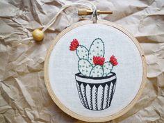 3 pouces Hoop Art 7 Cactus broderie par CheeseBeforeBedtime
