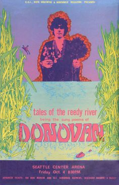 According to author and artist Scott McDougall, John Moehring, who designed this poster for a 1968 Donovan concert, was one of the best Seat...