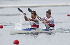 Canoeing Flat - Women - K2 500m - Final.  Canada's Émilie Fournel and Hannah Vaughan finished 4th.