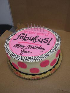 60th Birthday Cake - Deerfields