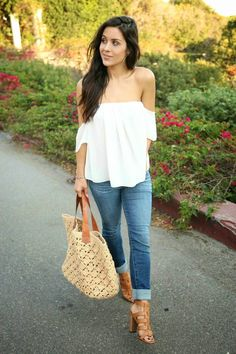 how to wear off the shoulder tops with broad shoulders