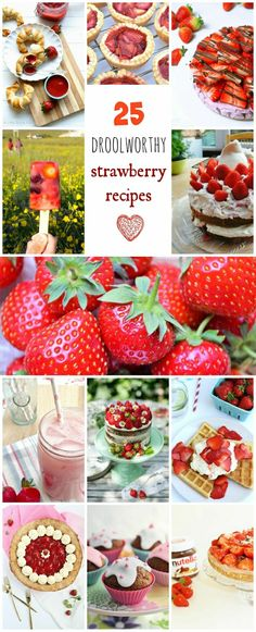 Strawberries are fabulous eaten straight out of the punnet, but do you ever want to do more with them? Check out these amazing strawberry recipes. Smoothies, ice lollies. cakes, tarts, cheesecakes, jam ......