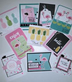 CTMH Calypso and Tickled Pink Creative Insider cards by Jacquie Paech