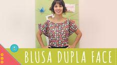 Aprenda a costurar uma blusa dupla face de amarrar Descomplica!   Blusa envelope, blusa dupla face diy