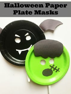 Halloween Maske craft Halloween paper plate crafts- tutorial for making these great DIY Halloween masks for kids. Halloween Masks Kids, Maske Halloween, Diy Halloween Decorations, Cute Halloween, Halloween Cards, Halloween Ideas, Halloween Costumes, Halloween Stuff, Paper Plate Masks