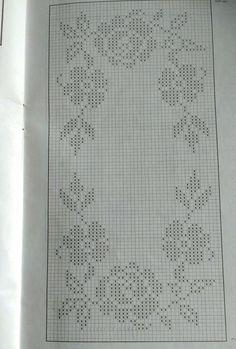 Crochet Tablecloth, Crochet Doilies, Filet Crochet Charts, Free Crochet, Diy And Crafts, Crochet Patterns, Cross Stitch, Bullet Journal, Embroidery