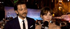 Rebelcaptain — vesperlynd:   Diego Luna and Felicity Jones at the...