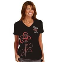 Beautiful Sigma Alpha Iota rose tee!